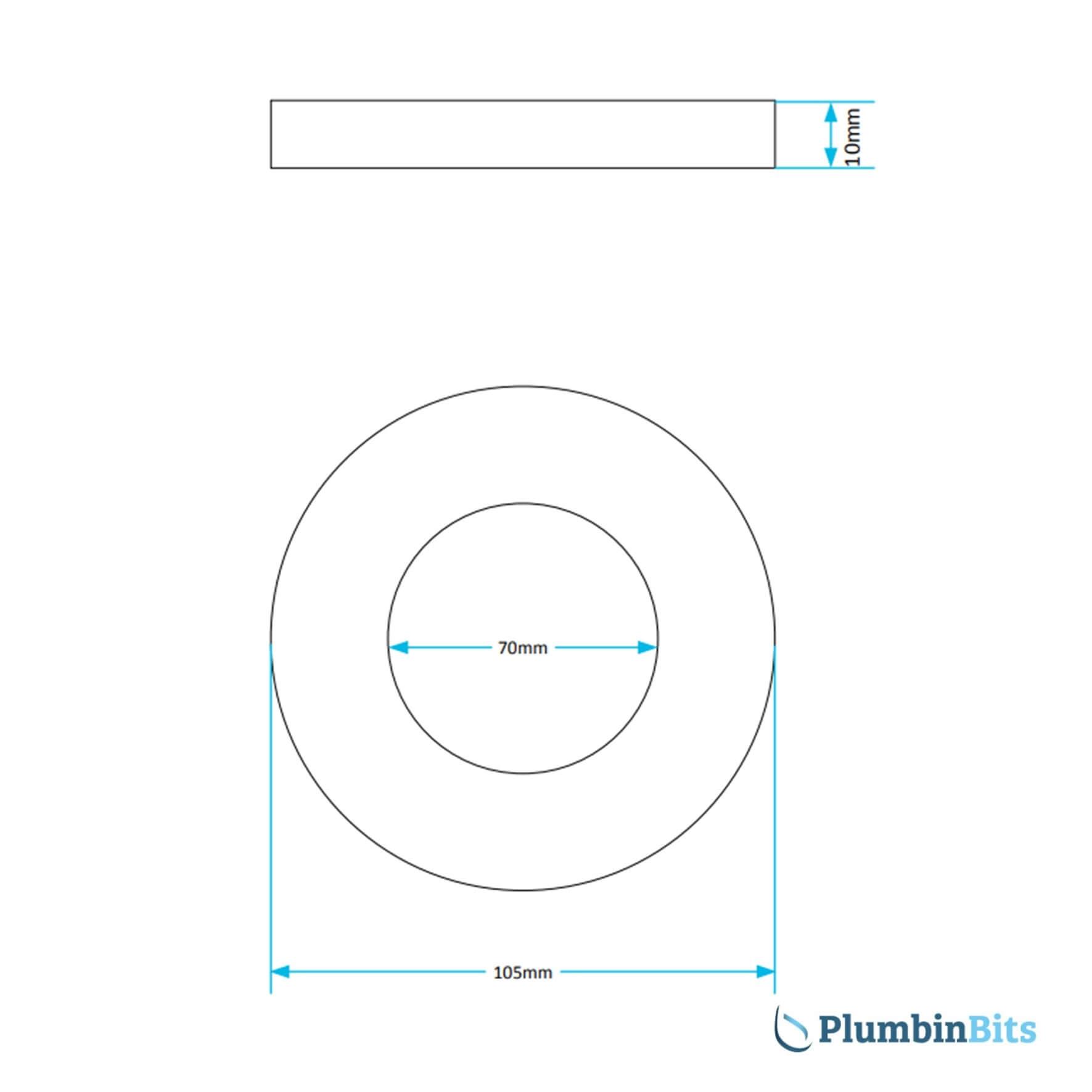 Viva Washer PP0035 Measurement